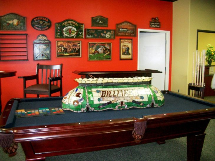 game room decor While work is just about finishe billiard room