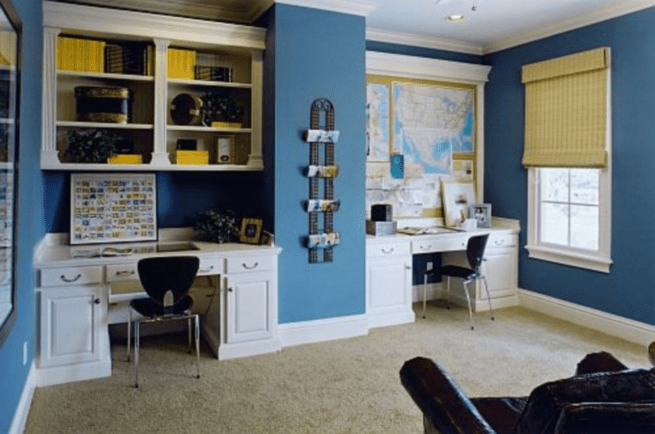 home office color schemes to create a working environment on color ideas for home office id=82479