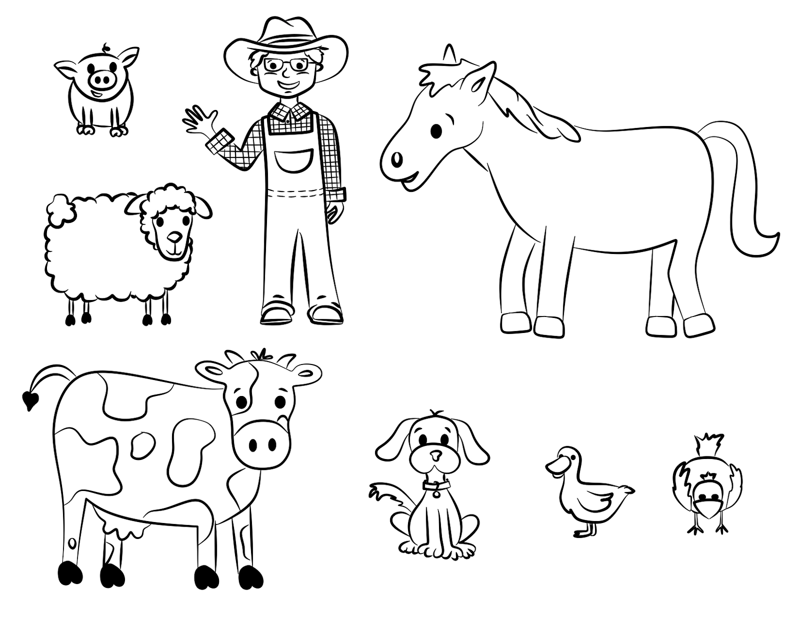 Old Mcdonald Coloring Page