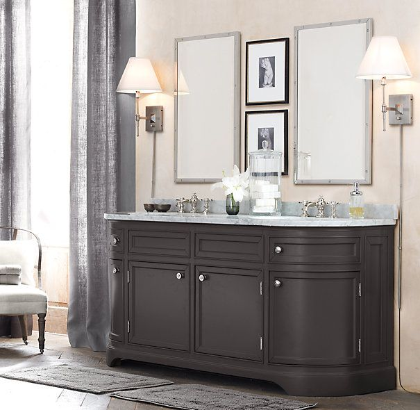 restoration hardware style bathroom vanities | restoration