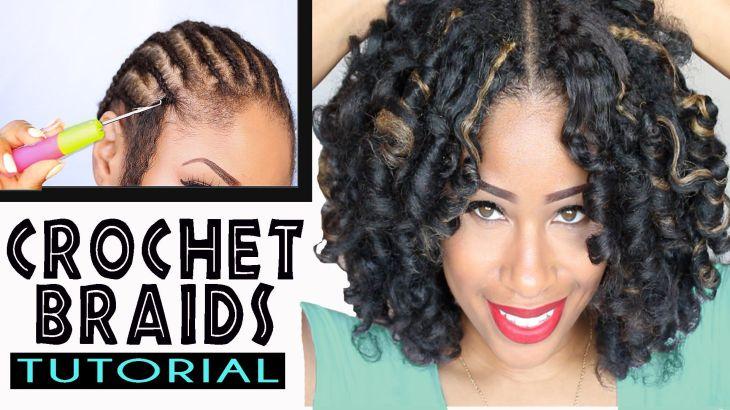 How To CROCHET BRAIDS w MARLEY HAIR beautiful black hair
