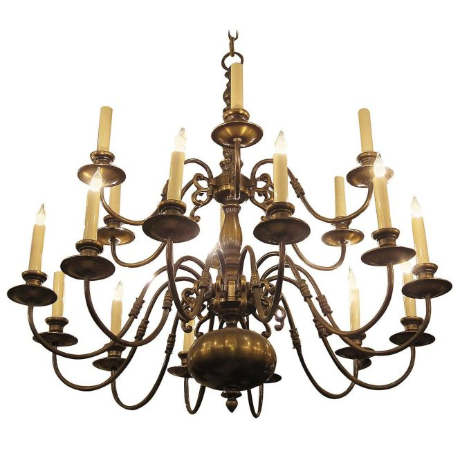 1950s Colonial Style Oil Rubbed Bronze Two Tier Chandelier See More Antique And Modern