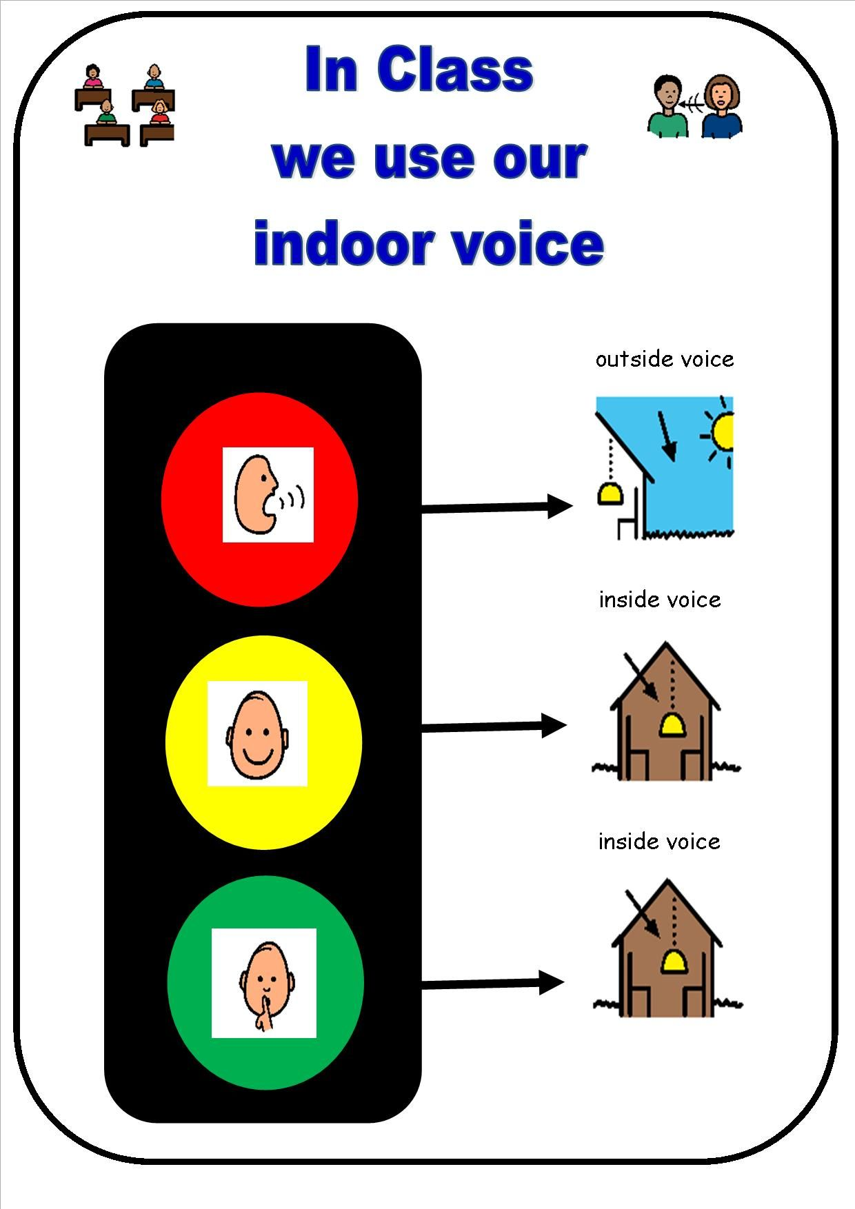 Social Story Using Your Inside Voice S