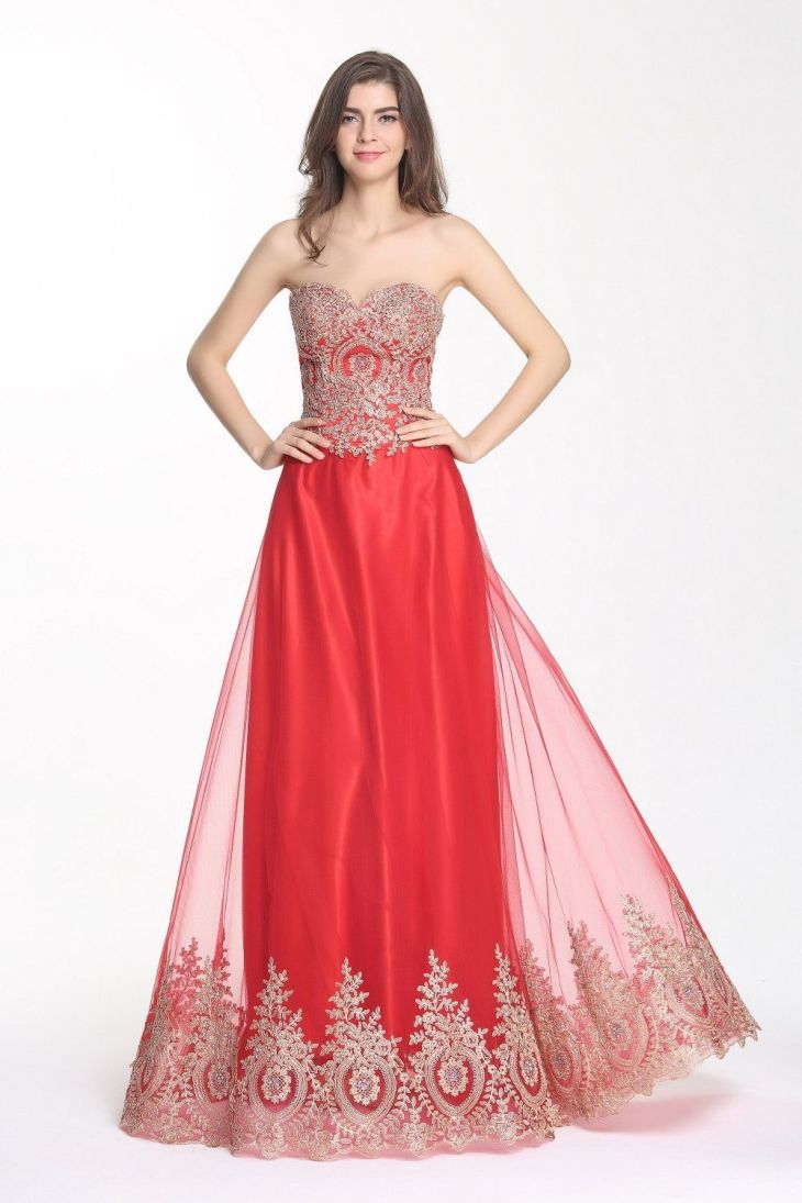 Kingus Love Womenus Sweetheart Crystal Prom Dresses Aline Evening