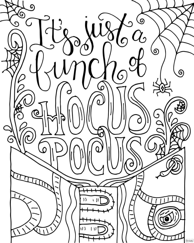 Hocus Pocus Coloring Page