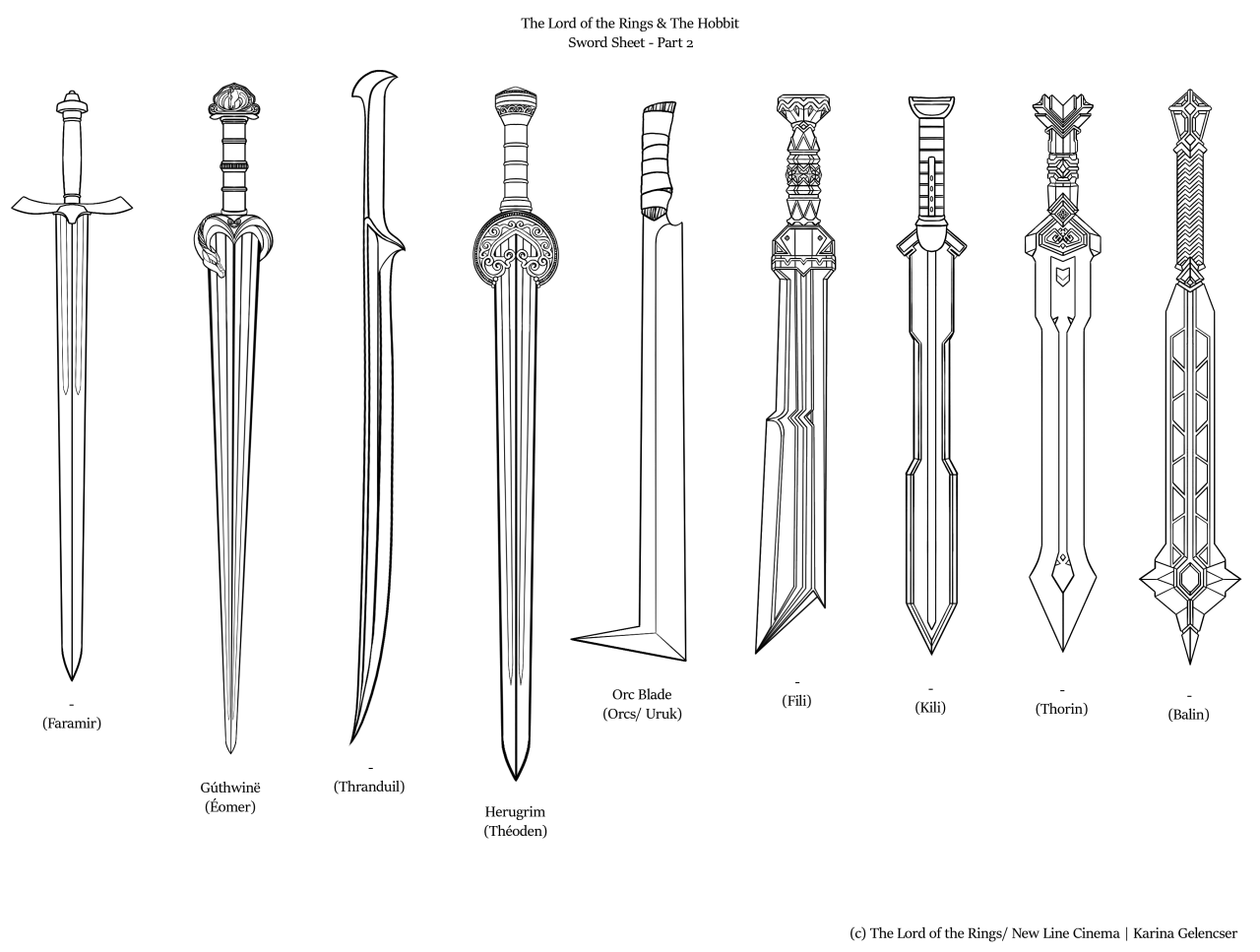Rdjpwns The Lord Of The Rings Amp The Hobbit Sword Sheet I