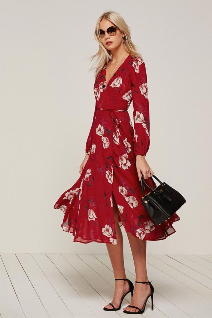 Reformation Chelsea Wrap Dress Shop Warm Wrap dresses and Chic