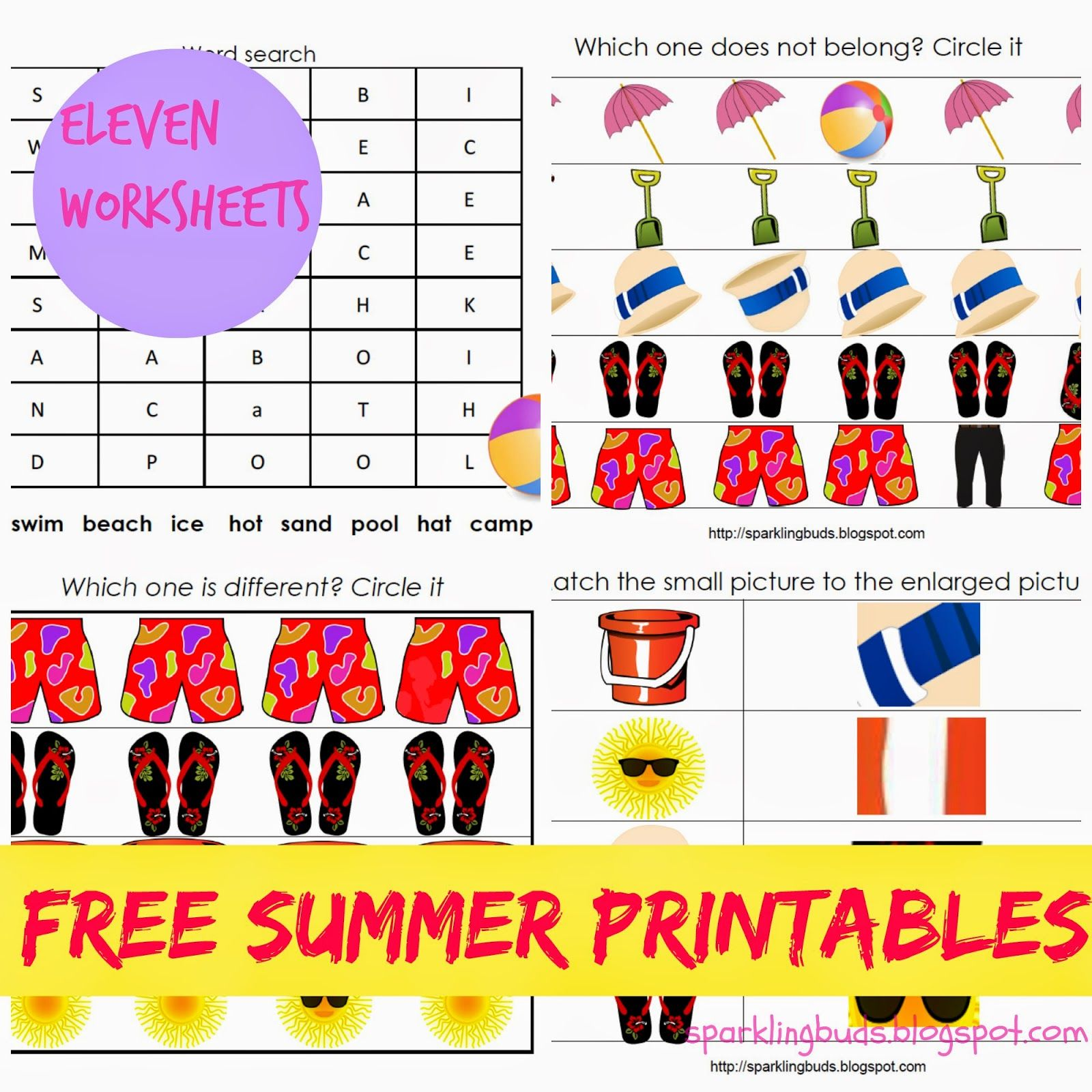 Free Summer Printables Suitable For 4 6 Years