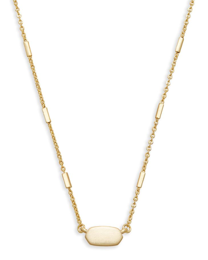Shop pendant gold necklace at Kendra Scott With a slim gold chain