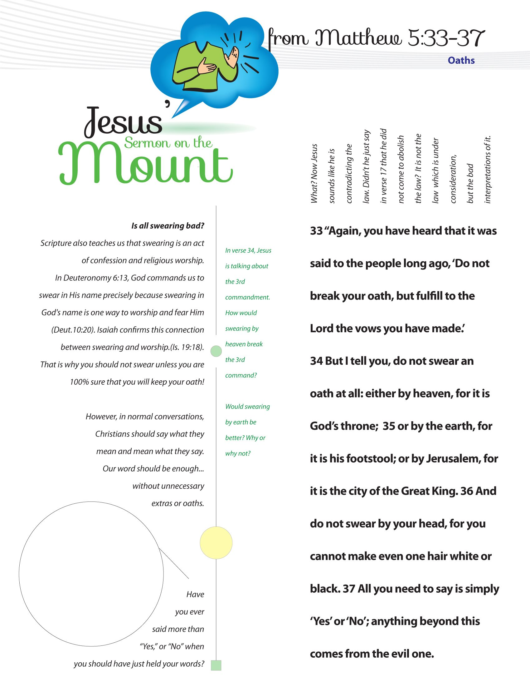 Worksheet To Teach Jesus Sermon On The Mount From Matthew Chapter 5 Helping Children To