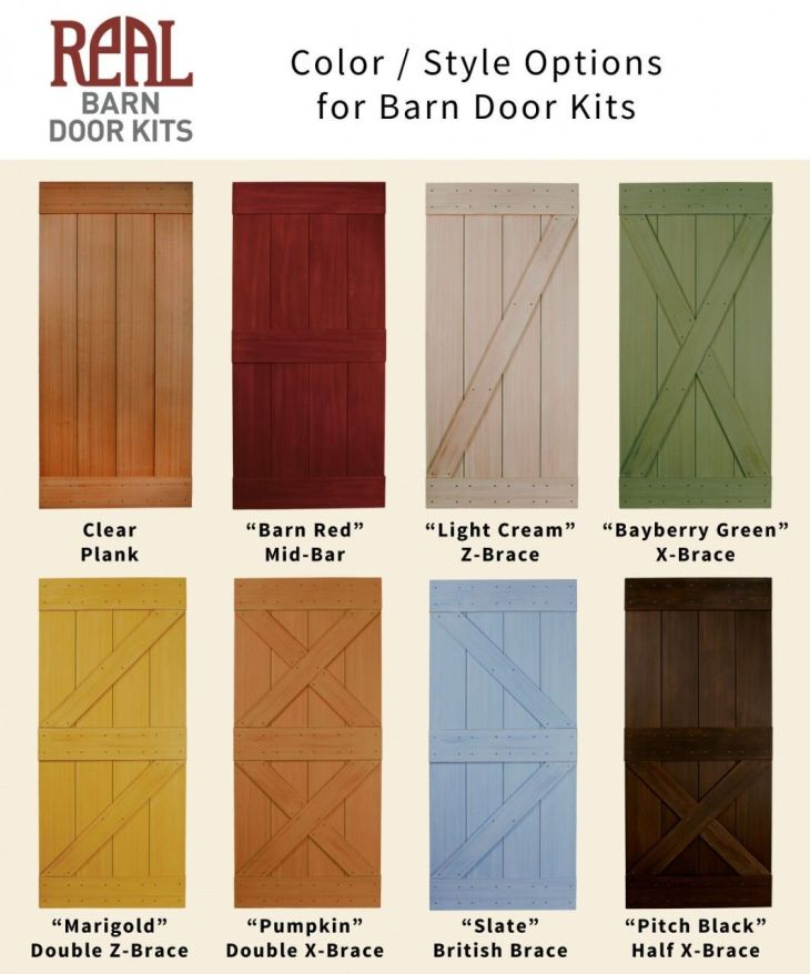 Real Sliding Hardware Real Barn Door Kit Western Red Cedar