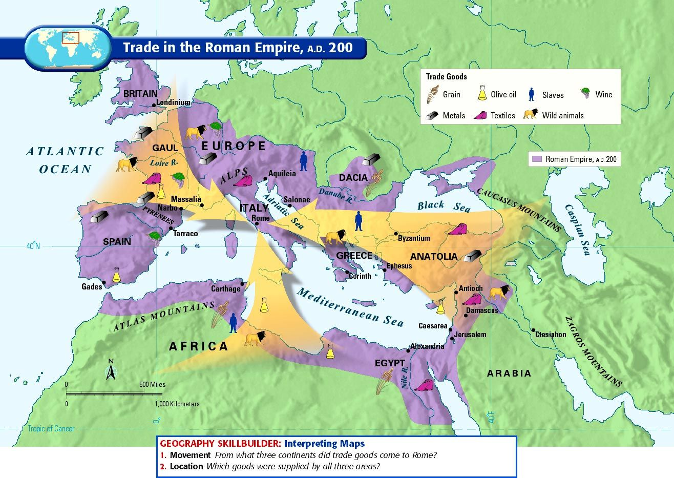 200 Ce Trade In The Roman Empire