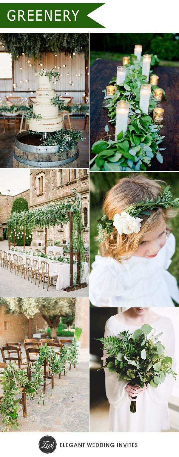 Ten Trending Wedding Theme Ideas for   Wedding trends Greenery