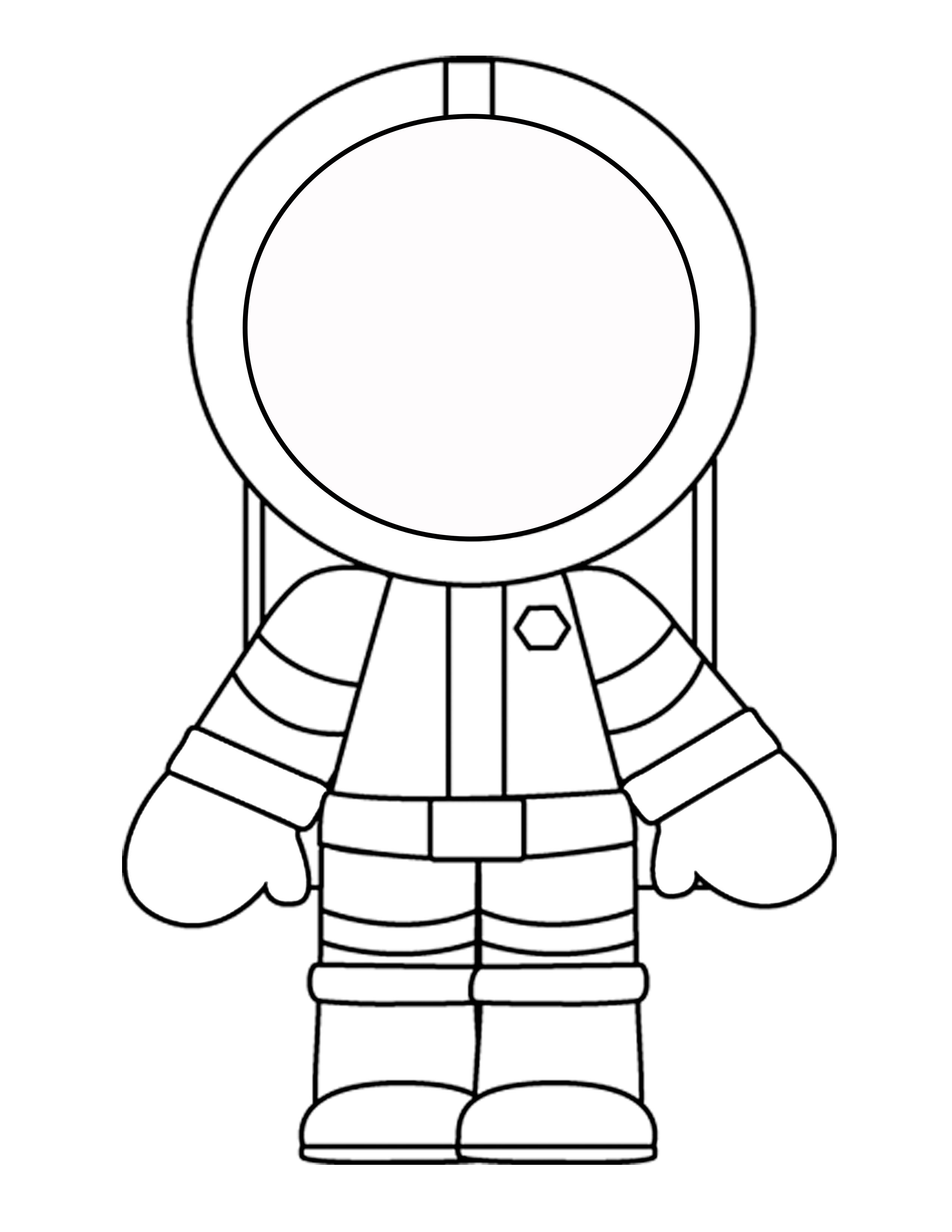 Printable Template For The Astronaut Mini Book Craft