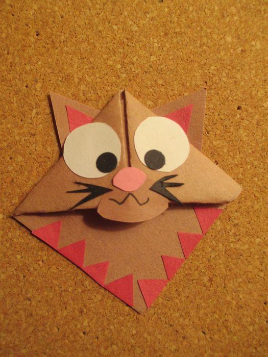 Origami Cat Bookmark Origami Tutorial Lets Make It