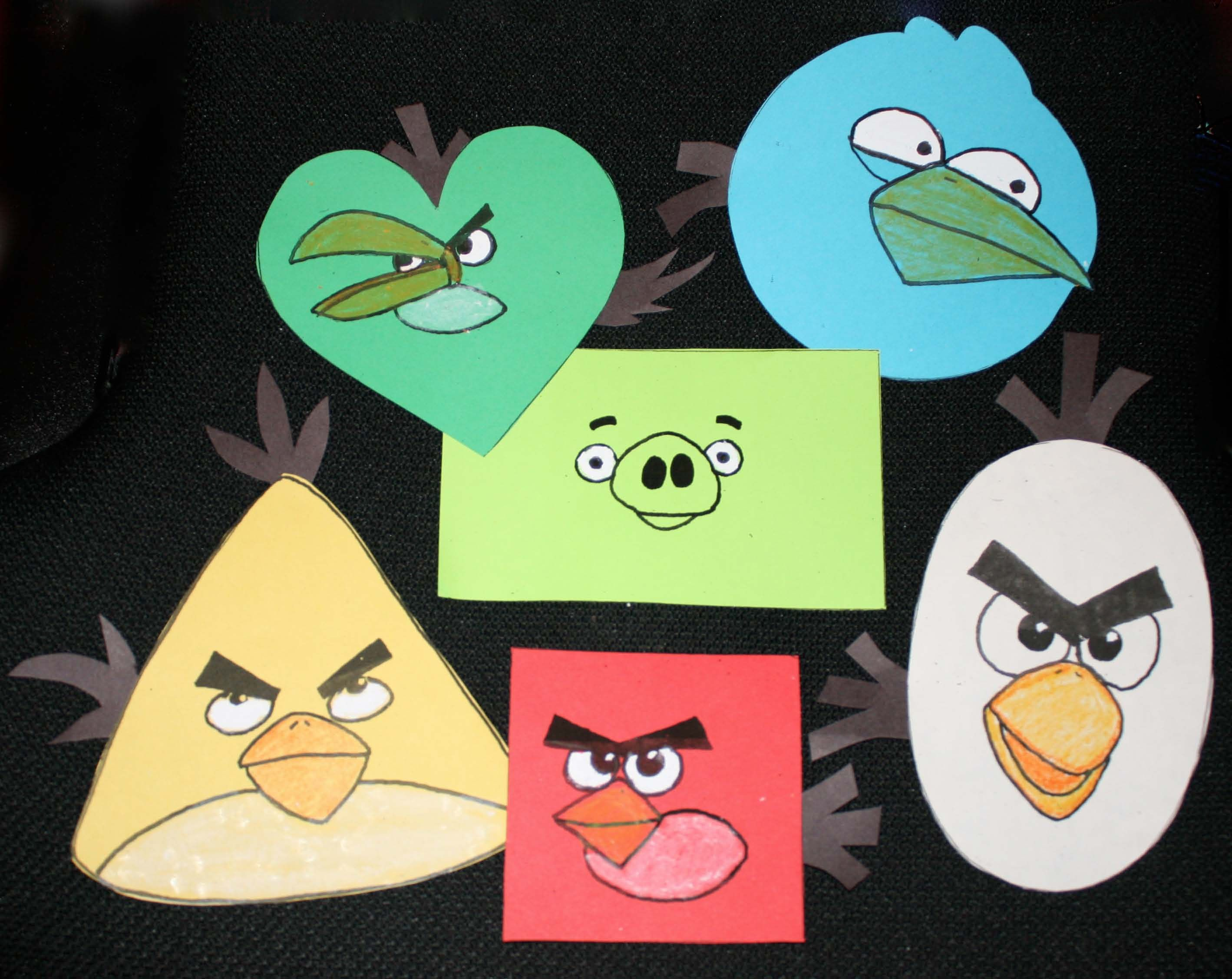 Teaching Shapes With The Angry Birds Free Patterns