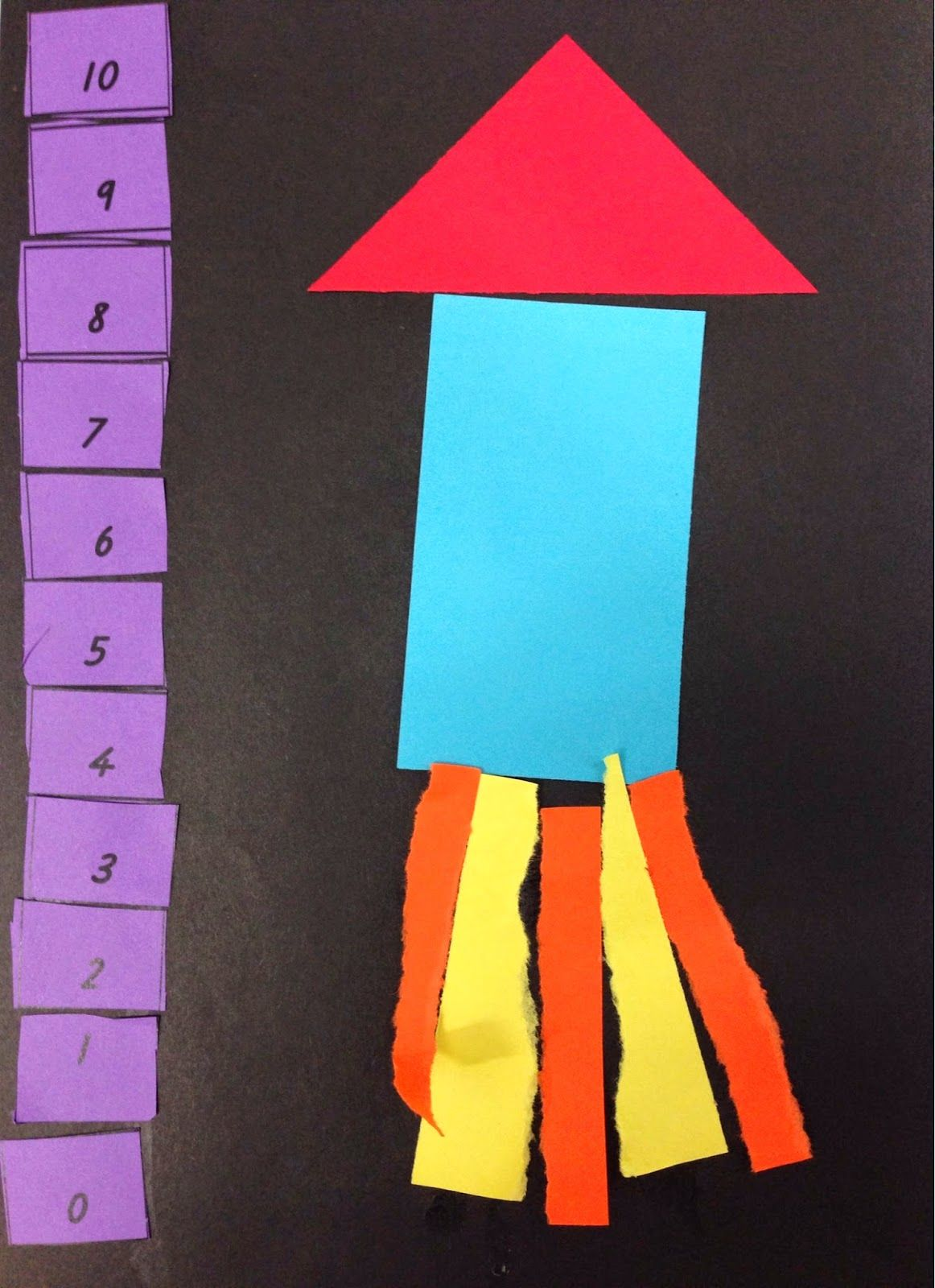 Countdown Rocket Counting Back On A Number Line Love