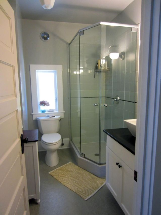 Simple Small Bathroom Ideas With Shower ly on Small House