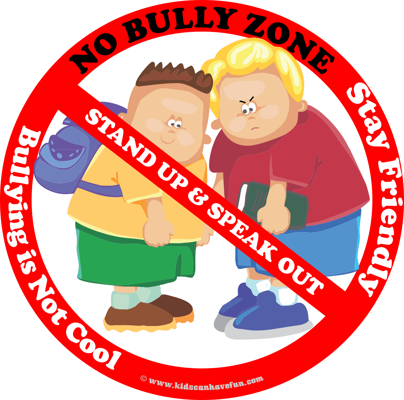 No Bully Zone Poster To Hang Up At School Home Or Daycare Find More No Bullying Printables And