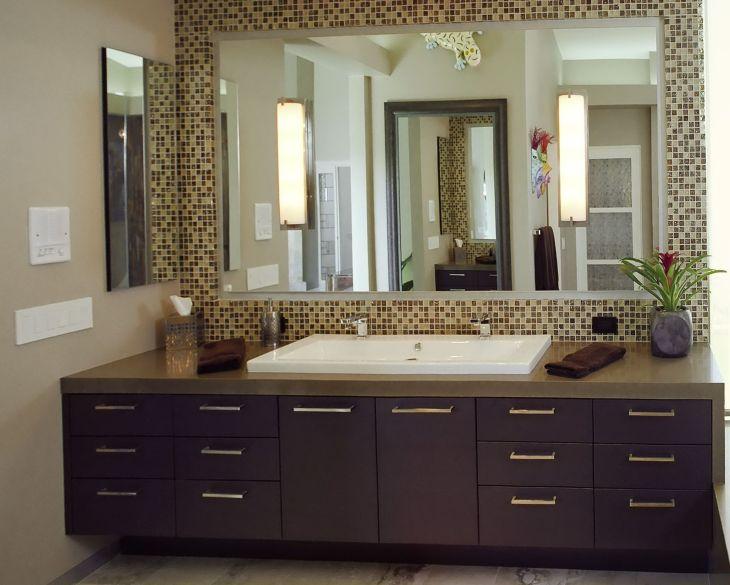 Bathroom Bathroom Mirror Framed Tile Home Design Ideas Intended