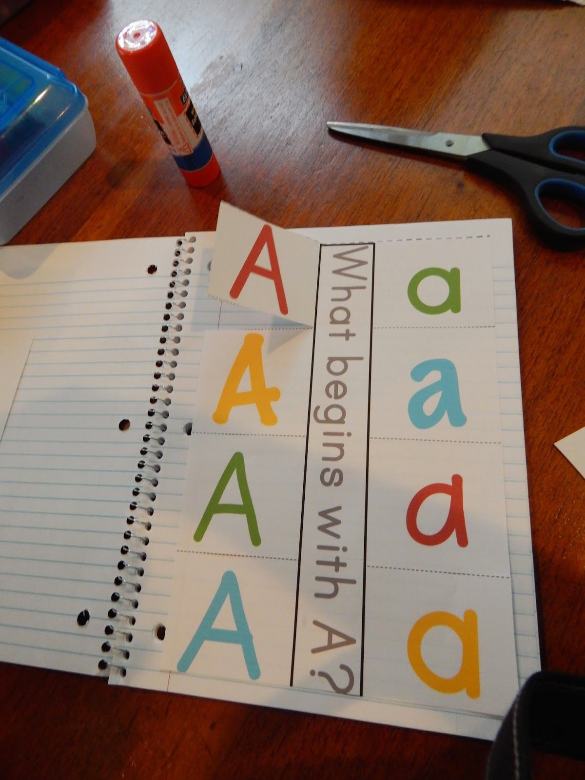 Living Worldsapart Letter A Interactive Notebook Pages