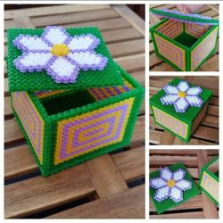 box fuse bead ideas minecraft crafts perler bead moneybox red ted