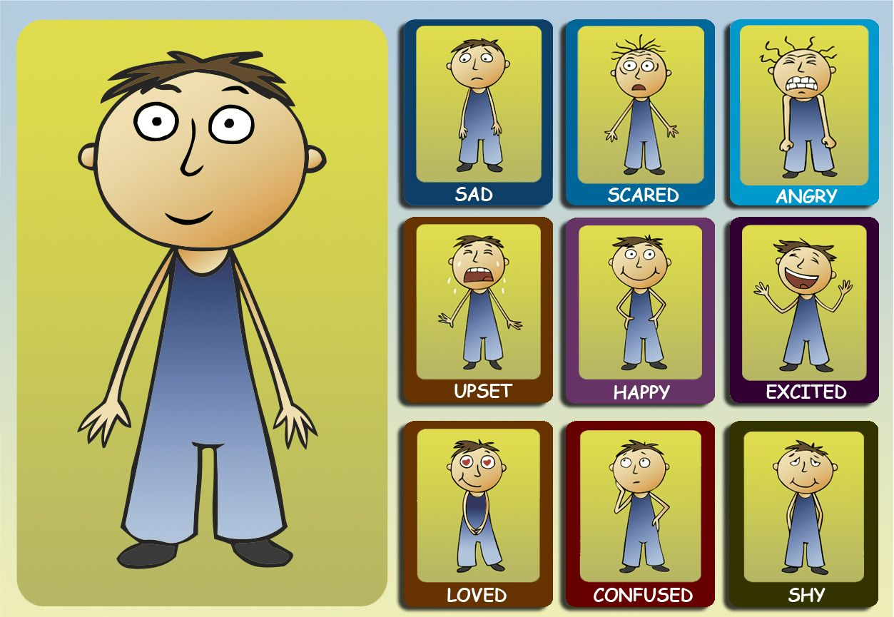 Feelings And Emotions Chart For Kids