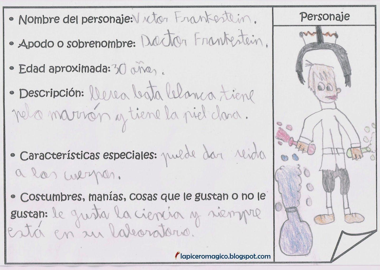 Lapicero Magico Fichas De Personajes Comprension Lectora
