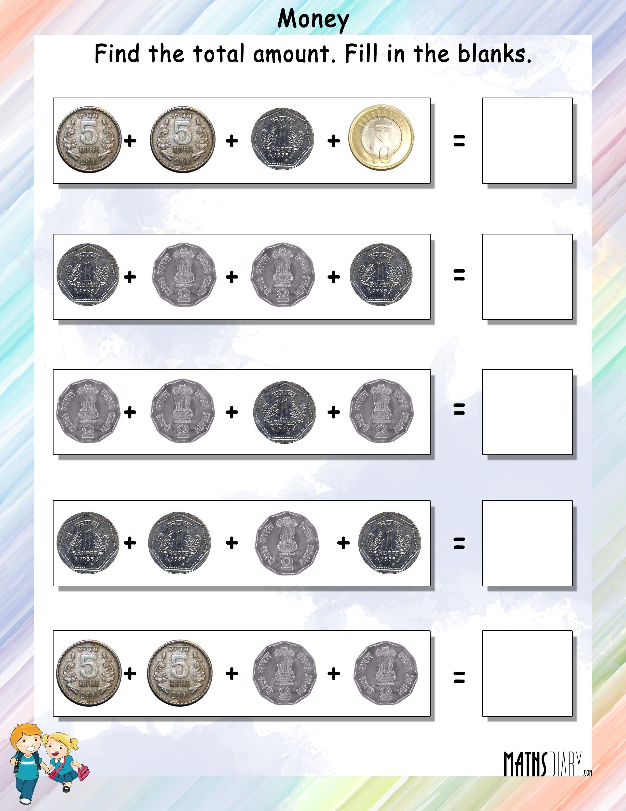 Money Worksheet For Grade 3 In Rupees