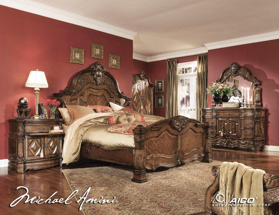 king size bedroom sets | aico 6pc windsor court king size bedroom