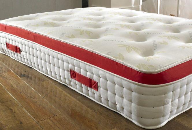 5ft King Size Pocket Sprung Memory Foam Mattress Pillow Top Organic