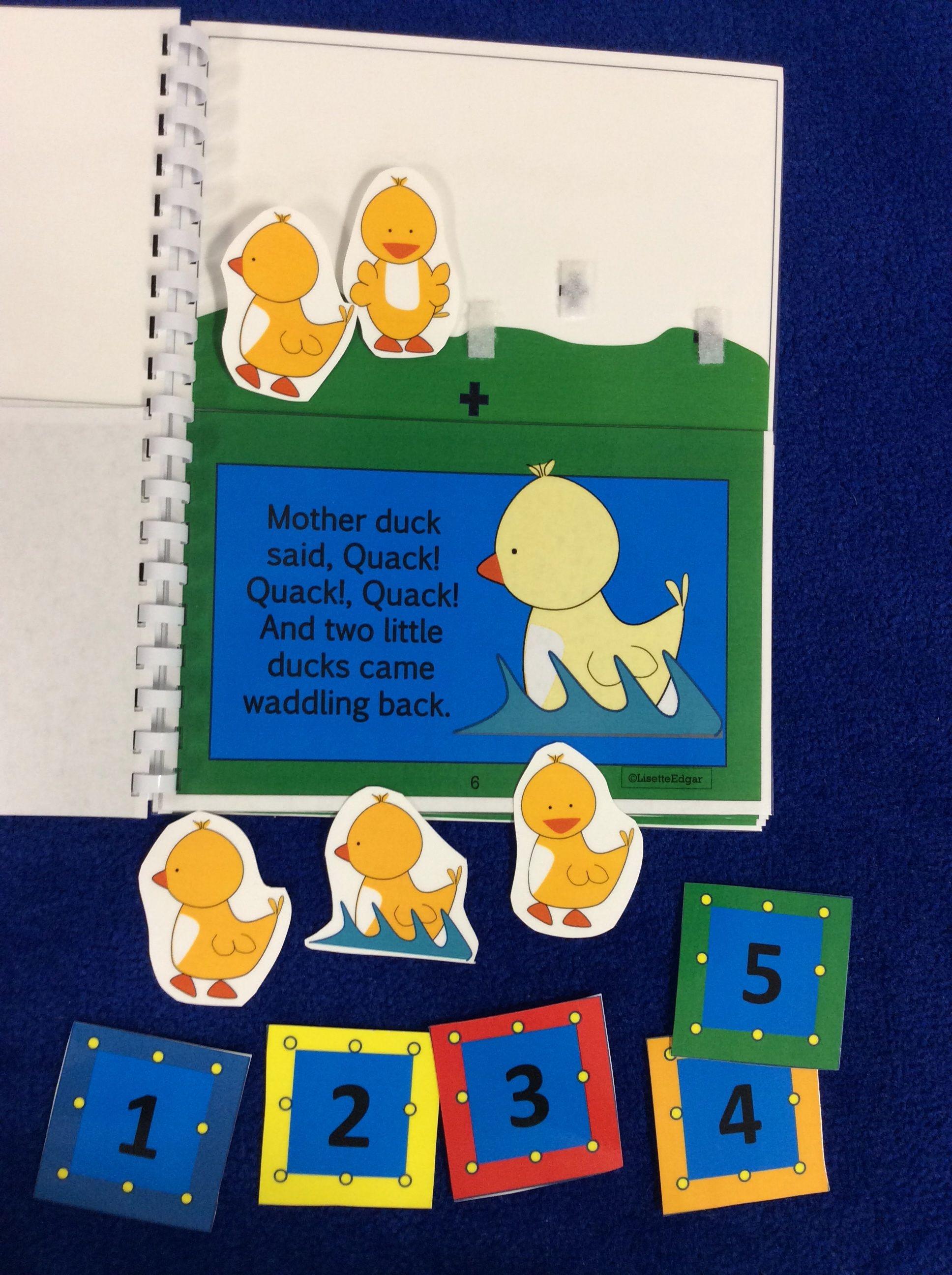 Five Little Ducks Flip Book For Preschool And Kindergarten Speech Therapy