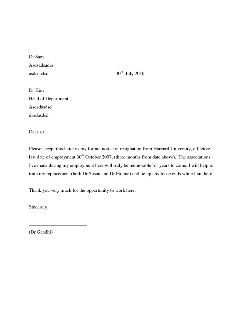 Sample letter resignation job inviview simple resignation letters examples seeabruzzowriting a letter of spiritdancerdesigns Image collections