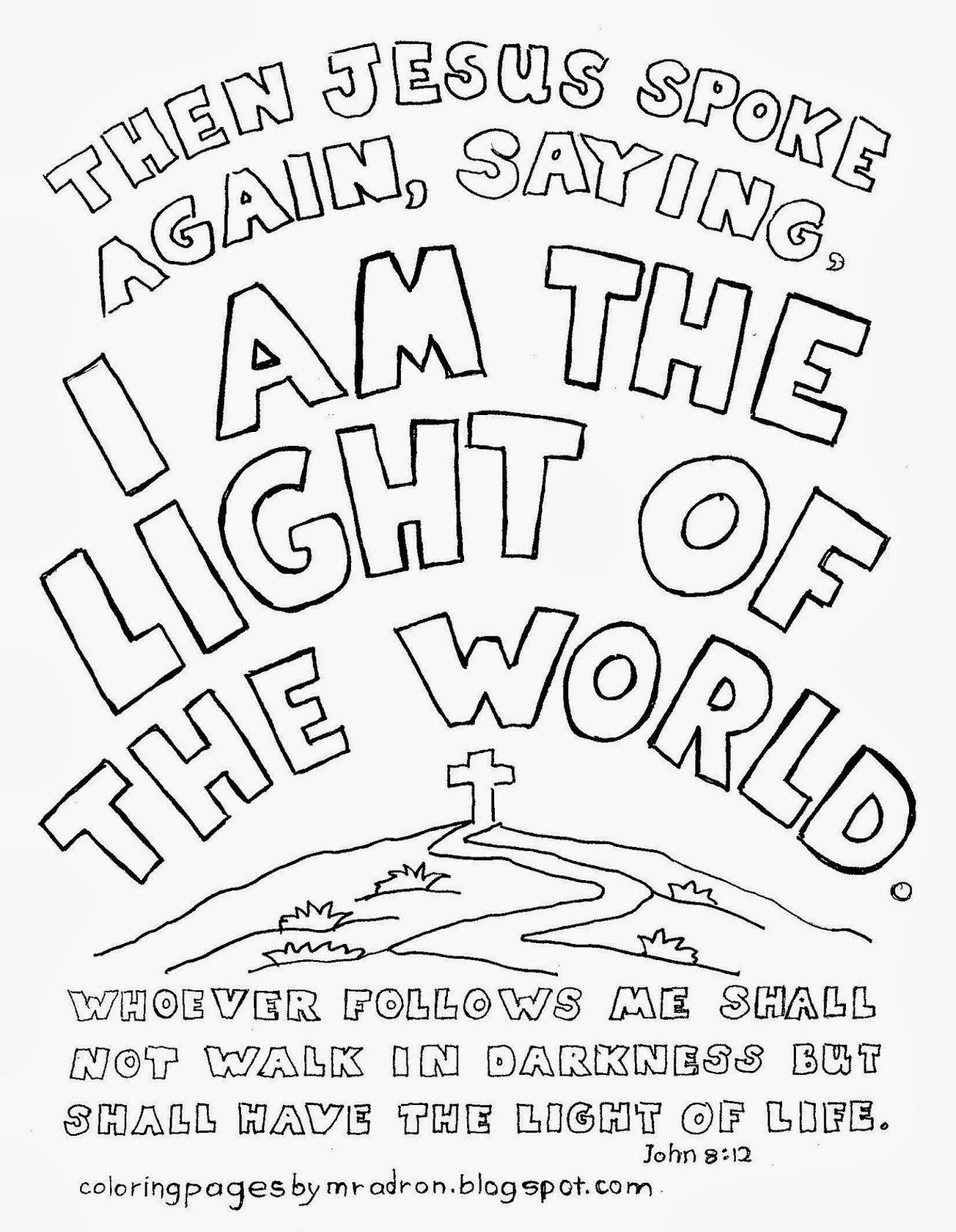 Free Printable John 8 12 Coloring Page