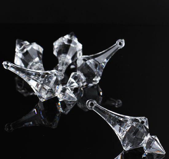 Clear Acrylic Chandelier Crystal Like Charms 18pcs