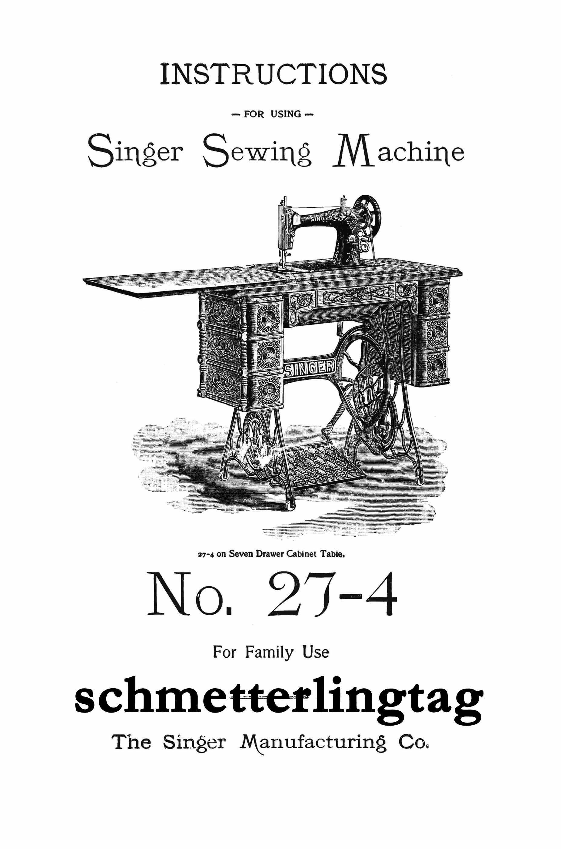Buy Singer Antique Sewing Machine Manual 27 4 Book At Atomicmall