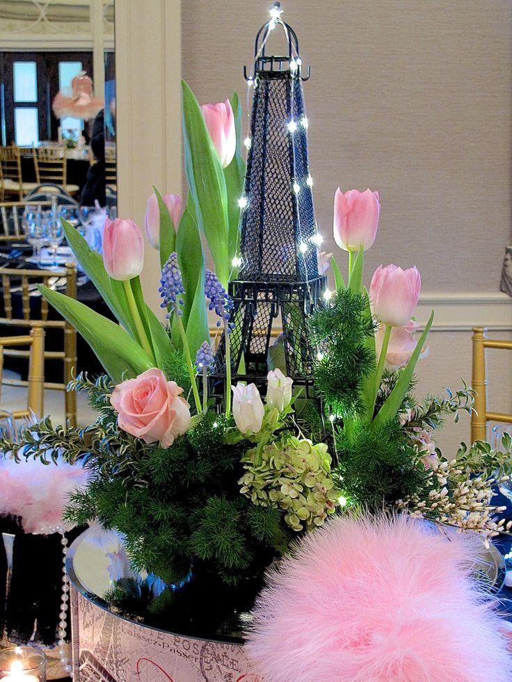 April In Paris Centerpieces For A Spring Party