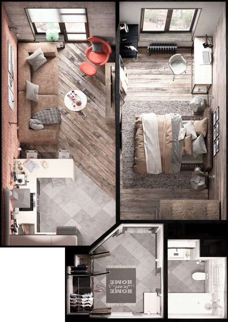 Bold Decor In Small Spaces  Homes Under  Square Meters  Depa
