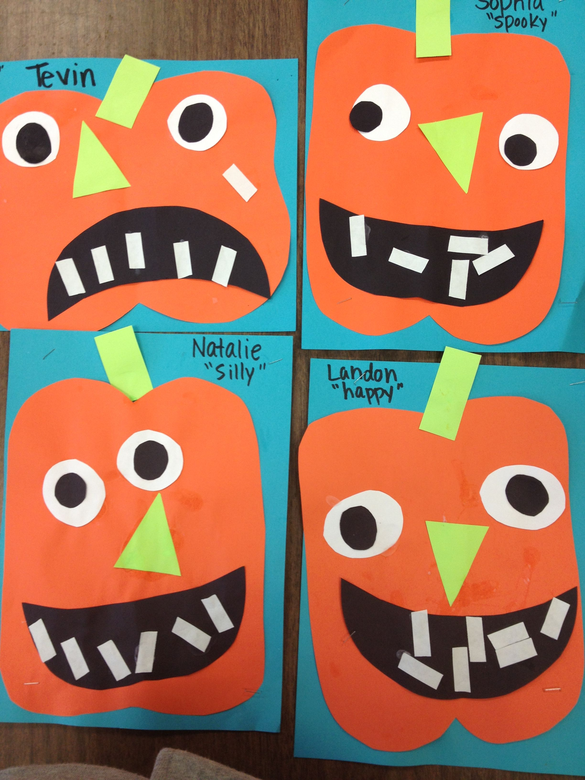 Preschool Pumpkins Can Talk About Shapes While Putting Pumpkins Together