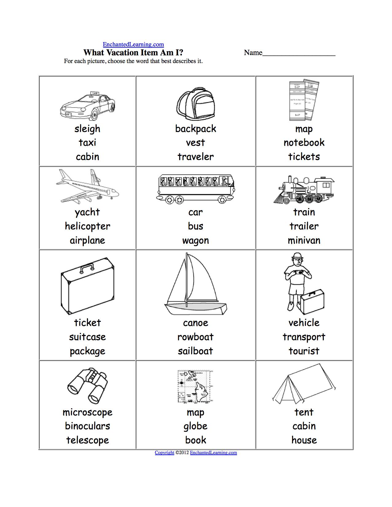 Camping Worksheet 2nd Grade Weather