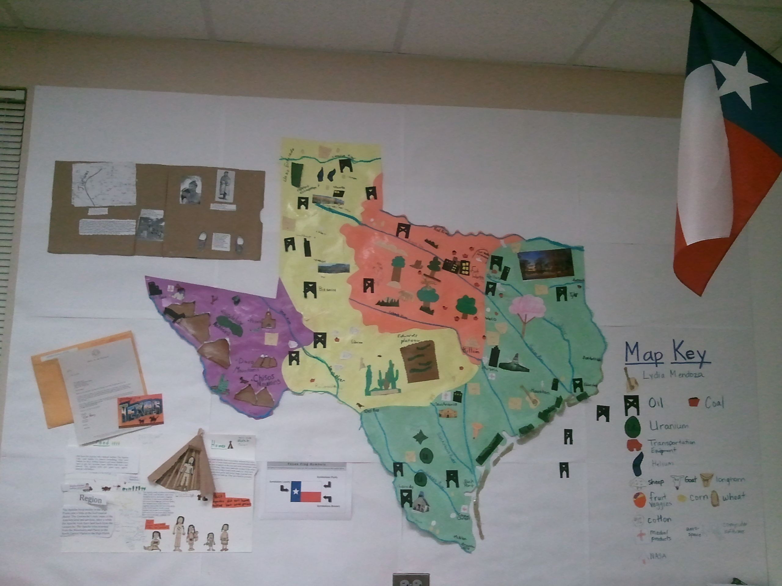 Texas Region Map This Is A Great Idea To Use In Our Unit