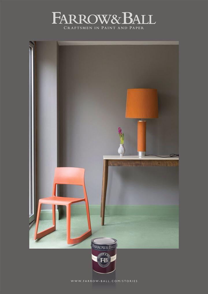 Farrow Amp Ball Moles Breath Bedroom Grey Green Orange