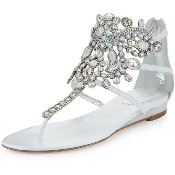 Rene Caovilla Crystal Chandelier Sandal 1 260 Liked On Polyvore Featuring Shoes