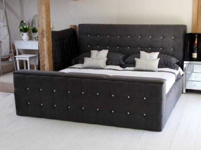 Huge Tv Bed With Swarovski Crystals Emperor Size The Grace
