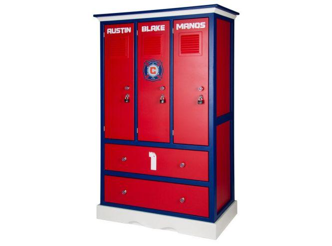 Furniture Childern S Locker Style Dresser Sports Themed