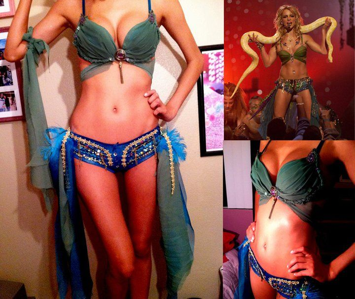 Image result for Britney Spears' 'slave 4 U' costume