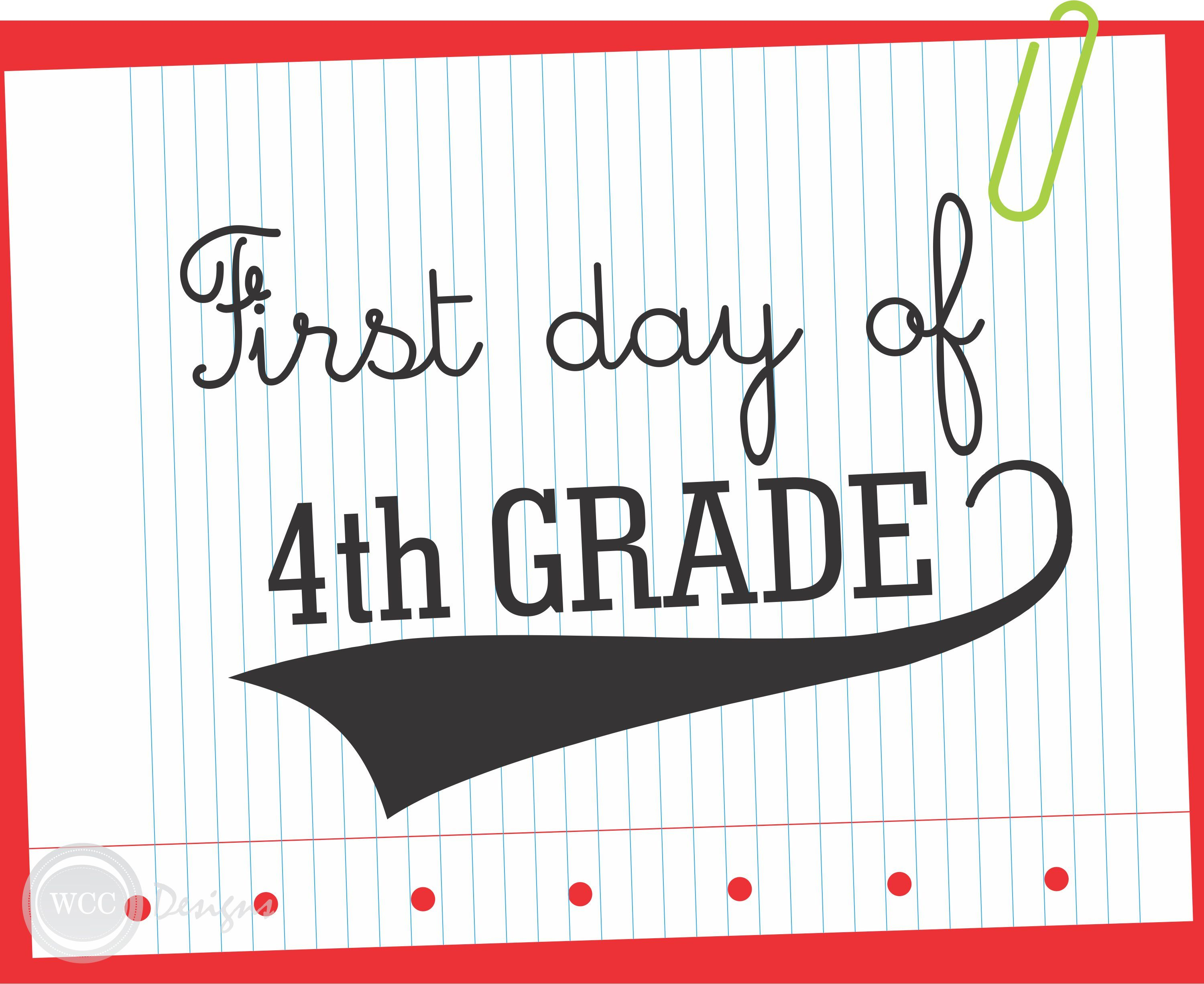 Free First Day Of School Printable Signs From Wcc Designs