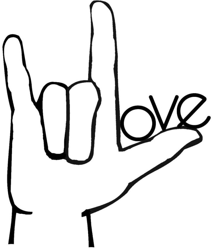 I Love You Sign Language Symbol Choice Image Free Symbol Design Online
