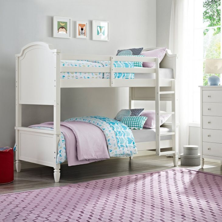 Dorel Living Vivienne Twin over Twin Bunk Bed  White  DLBB