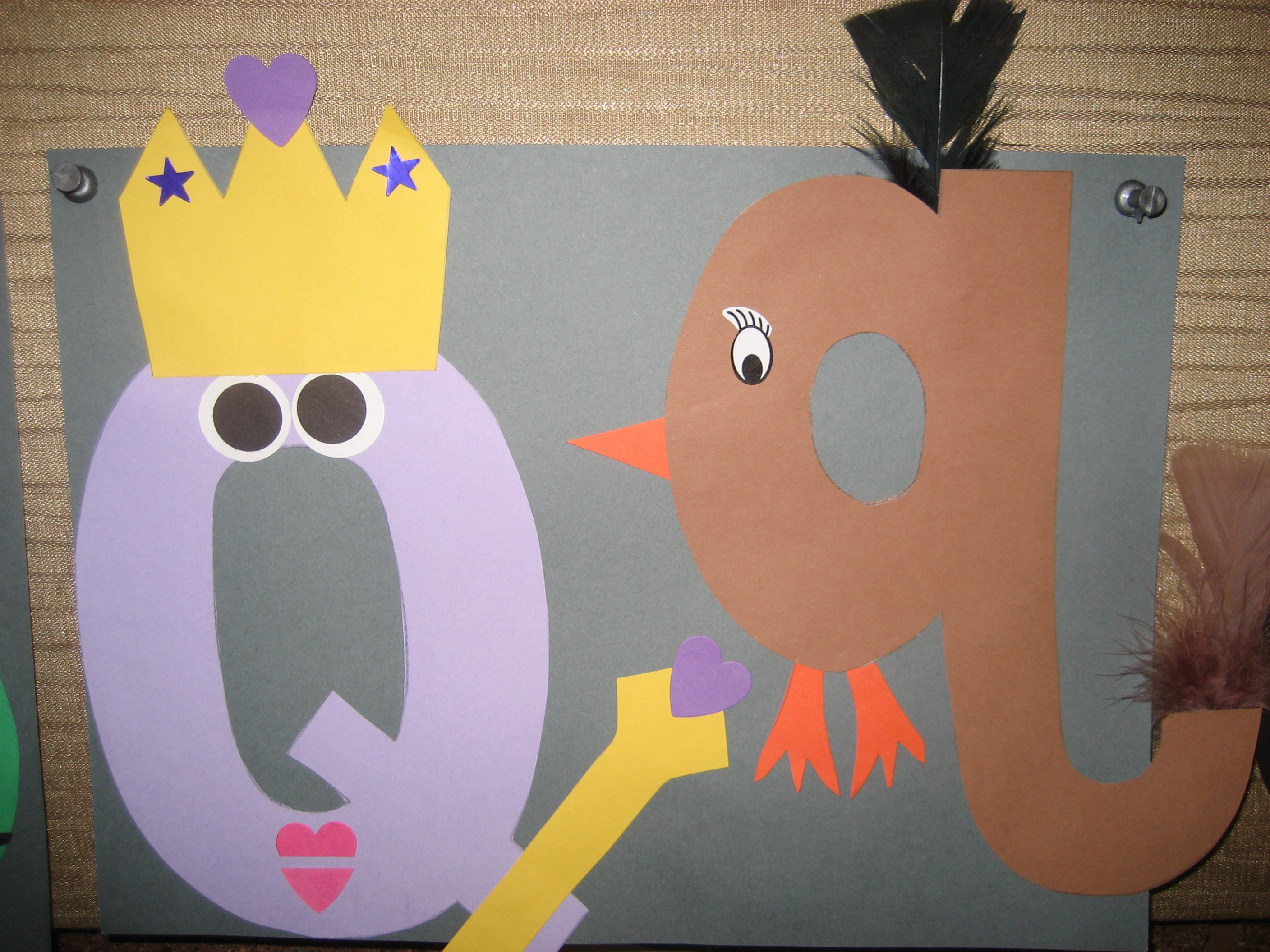 Qq Letter Of The Week Art Project Queen Amp Quail